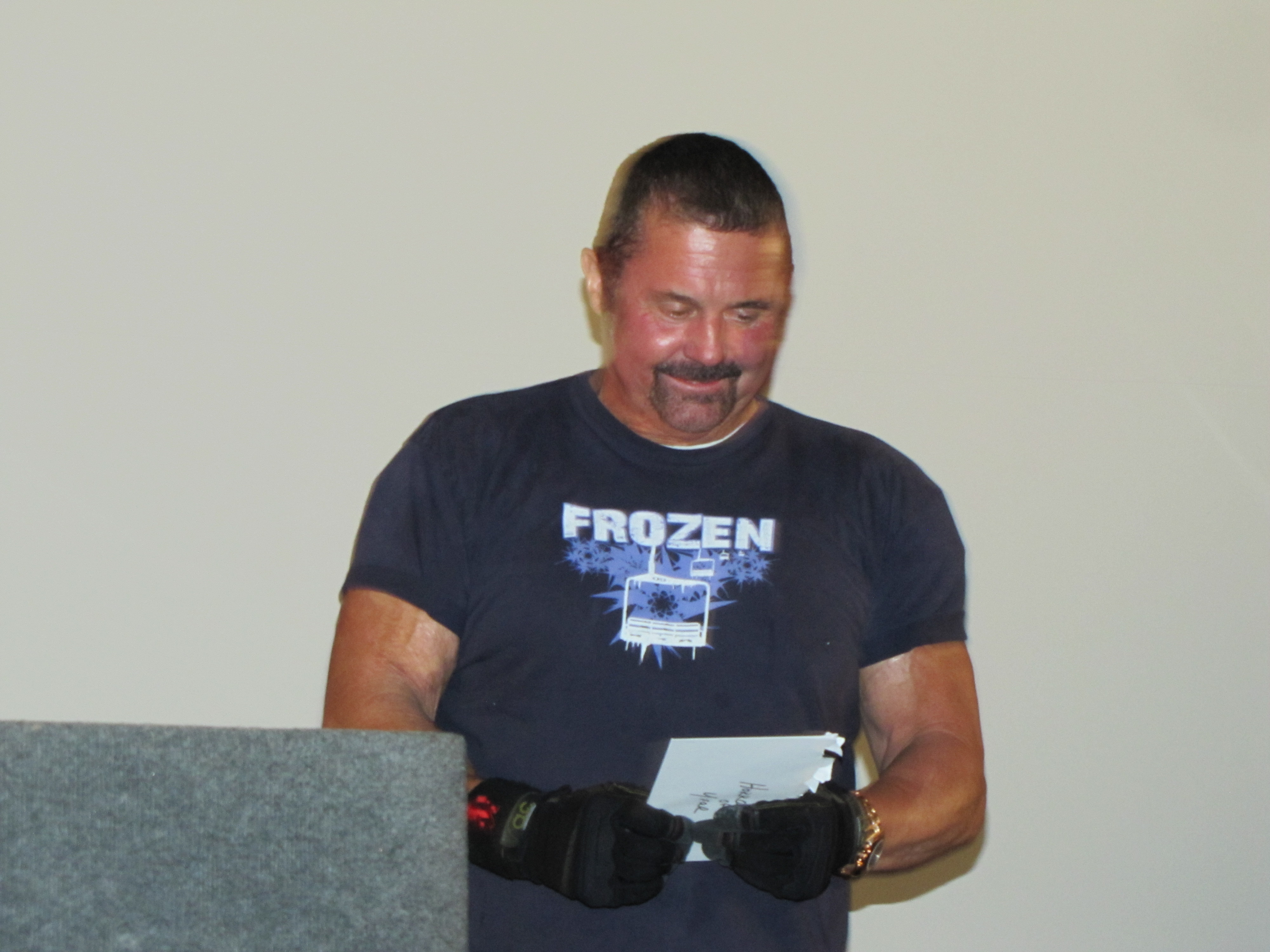 Kane Hodder wins the Corman for Horror Icon of the Year 2011.