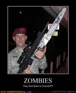 Zombie motivational poster 5