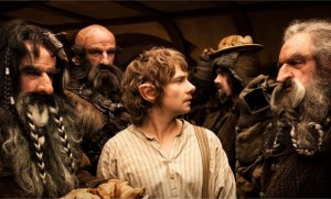 The Hobbit: An Unexpected Journey - Bilbo and Dwarves
