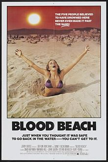 Blood Beach (1980) &#8211; Is it safer to go into the water or stay in the sand?