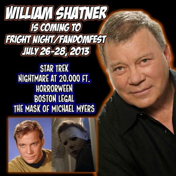 William Shatner is coming to Fandom Fest 2013!