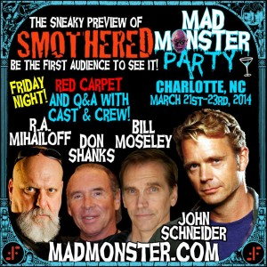 Smothered Cast And Crew At Mad Monster Party 2014