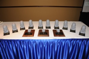 The Rondo Awards busts and statues designed by Kerry Gammill.