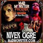 NIVEK OGRE, Repo! The Genetic Opera's Pavi Largo, returns for MAD MONSTER PHOENIX 2015! May 8th-10th!