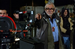 George A. Romero directs on the set of Land of the Dead.